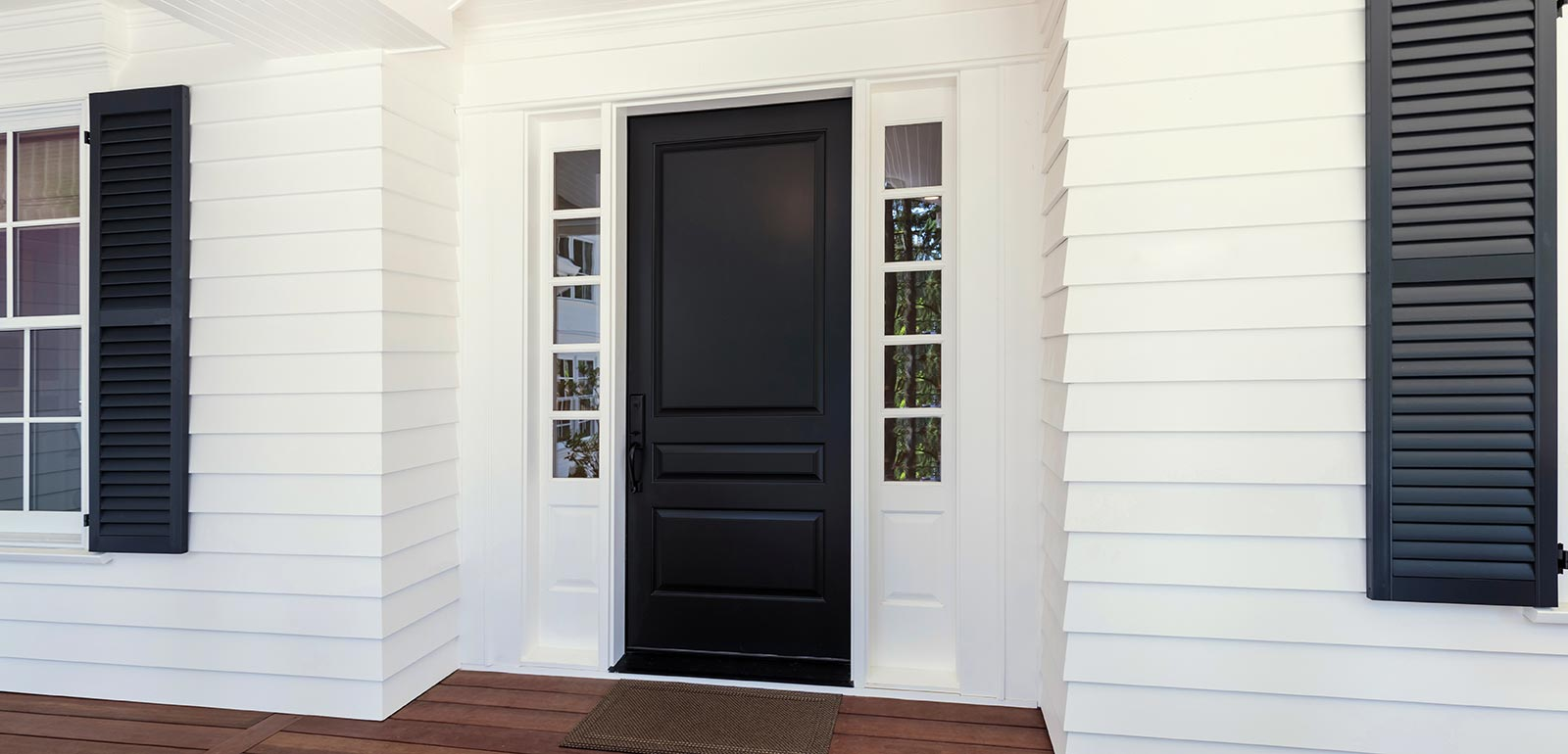 Exterior-Black-Front-Door-and-Shutters